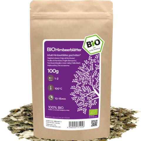 amapodo Bio Himbeerblätter Tee 100g lose Verpackung