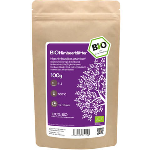 amapodo Bio Himbeerblätter 100g Verpackung