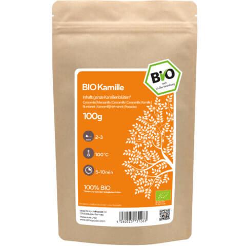 amapodo Bio Kamille 100g Verpackung