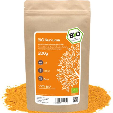 amapodo Bio Kurkuma Tee 200g lose Verpackung