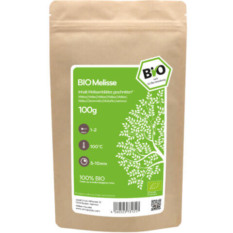 amapodo Bio Melisse Tee lose 100g Verpackung