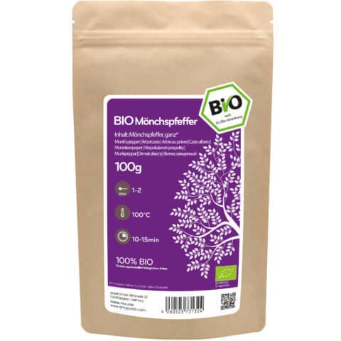 amapodo Bio Mönchspfeffer ganz 100g Verpackung