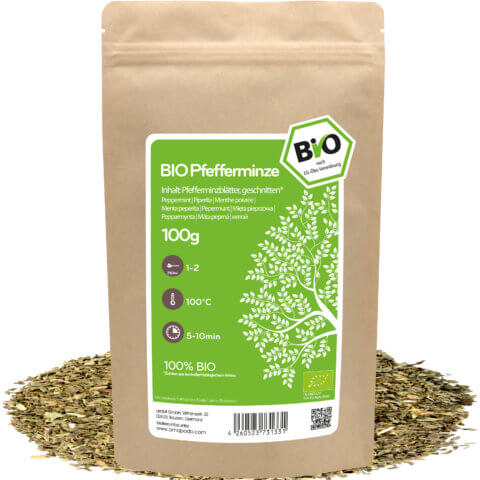 amapodo Bio Pfefferminz Tee 100g lose Verpackung