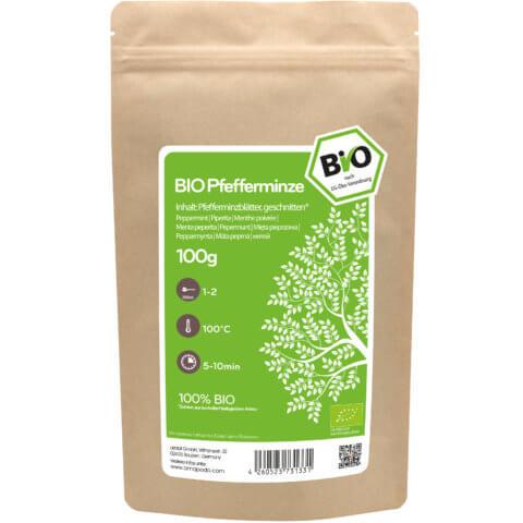 amapodo Bio Pfefferminz Tee 100g Verpackung