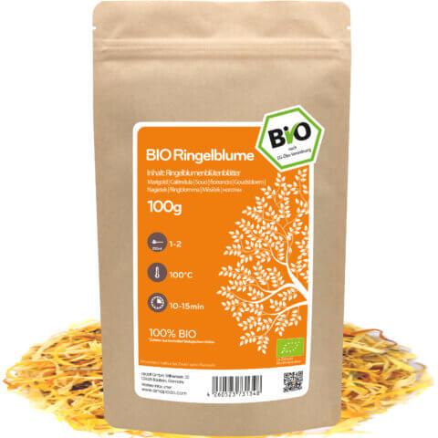 amapodo Bio Ringelblume orange 100g lose Verpackung