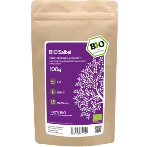 amapodo Bio Salbei Tee 100g Verpackung