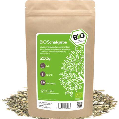 amapodo Bio Schafgarbe Tee 200g lose Verpackung