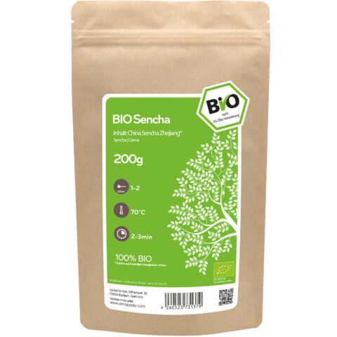 amapodo Bio Sencha China Zhejiang 200g Verpackung