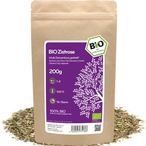 amapodo Bio Zistrose lose 200g Verpackung